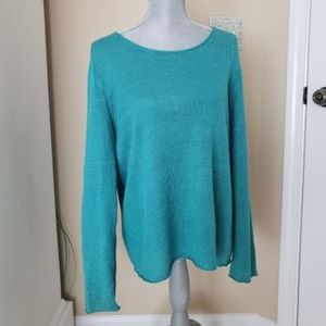 Beautiful blue/green lightweight chico's sweater.